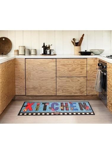 Giz Home Cooky Mutfak Halısı 50X125 Butterfly Kitchen Renkli